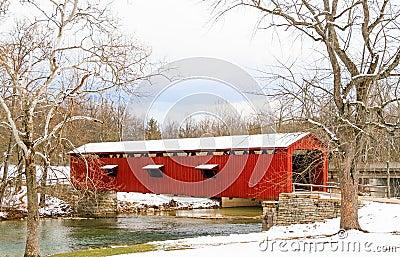 Cataract Falls Covered Bridge in Indiana