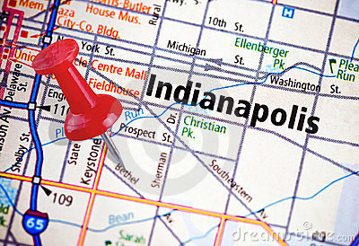 Indianapolis on a Political Map