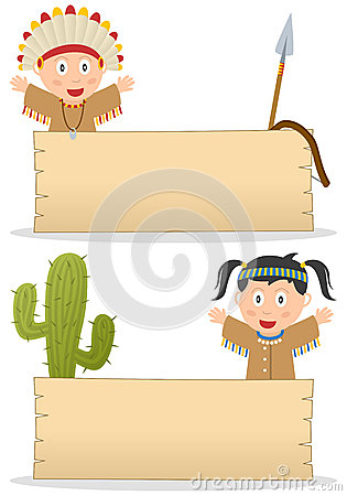 indians and wooden board royalty free stock photos image