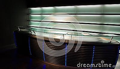 Indicador de néon moderno da barra