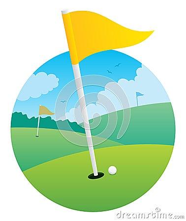 Indicador del golf