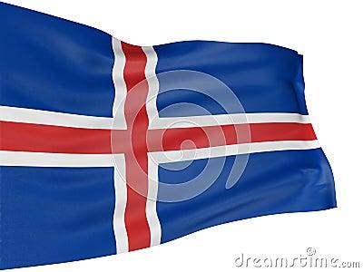 Bandera del islandés 3D