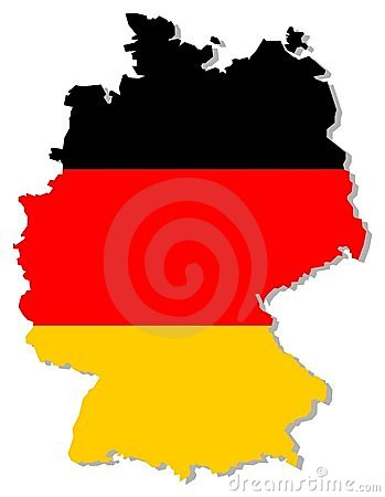 Indicateur de l Allemagne à l intérieur de cadre de pays