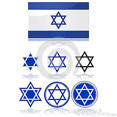 Indicateur De L'Israël Et De L'étoile De David Photos stock - Image: 28130403