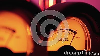 Indicateur de numérotation analogique Vintage du niveau de signal sonore Mètres VU Indicateur de volume Vintage classique banque de vidéos