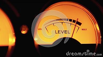 Indicateur de numérotation analogique Vintage du niveau de signal sonore Mètres VU Indicateur de volume Vintage classique clips vidéos