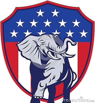 Indicateur républicain des Etats-Unis de mascotte d éléphant