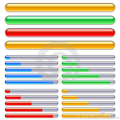 Indicator of progress in different colors
