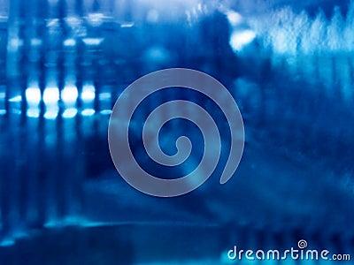 Indicatore luminoso blu astratto
