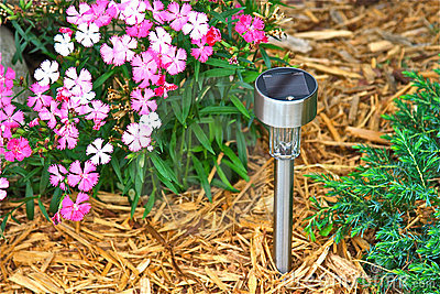 Indicatore luminoso solare del giardino