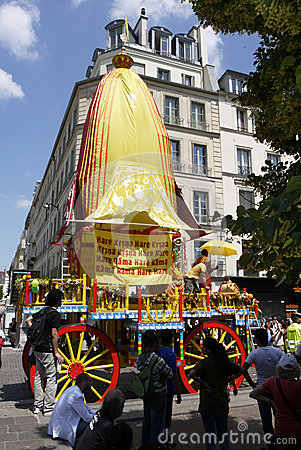 Indian Festival, Ratha Yatra Editorial Stock Photo
