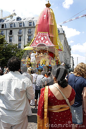 Indian Festival, Ratha Yatra. Editorial Stock Photo