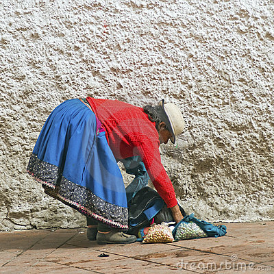 Indigenous Andean Woman Editorial Stock Image