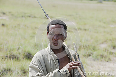 Indigenous Bushman in Africa Editorial Stock Image