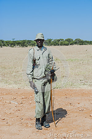 Indigenous Bushman in Africa Editorial Stock Photo