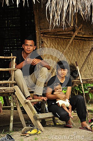 Indigenous family of Orang asli indigenous people Editorial Image