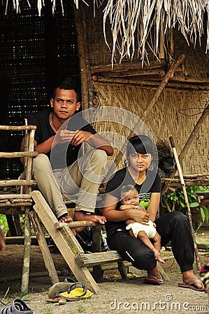 Indigenous family of Orang asli indigenous people Editorial Image