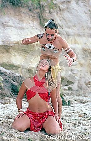Indigenous shaman ceremony