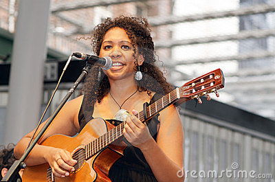 Indigenous Singer Georgia Corowa Editorial Stock Photo