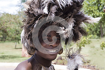 Indigenous Dancer in Africa Editorial Photo