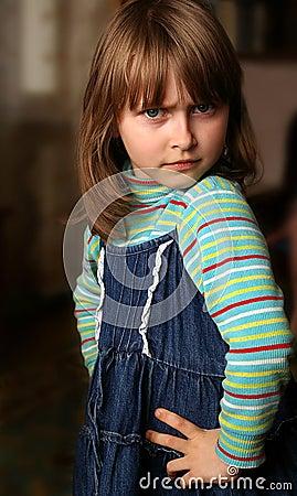Indignant little girl