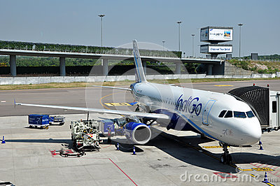 Indigo Airbus A320 Editorial Stock Image