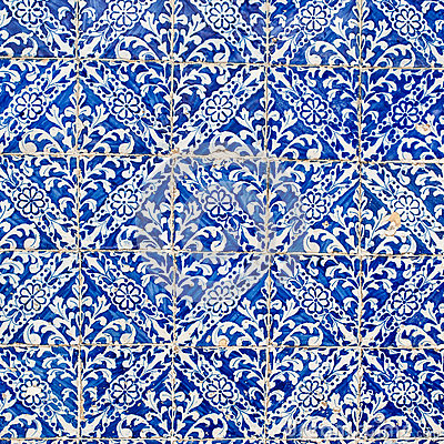 Free Indigo Blue Tiles Floor Ornament Collection. Colorful Moroccan, Royalty Free Stock Image - 72129776