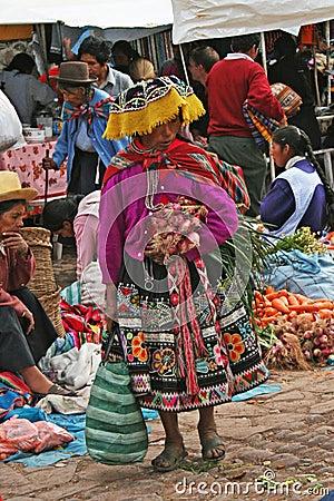 Indios peruanos Foto de archivo editorial