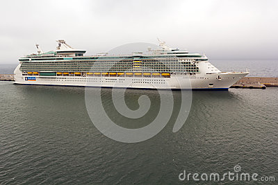 Indipendence of the Seas cruise docked at harbor Editorial Stock Image