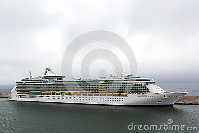 Indipendence of the Seas cruise docked at harbor Editorial Image