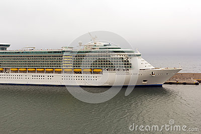 Indipendence of the Seas cruise docked at harbor Editorial Stock Photo