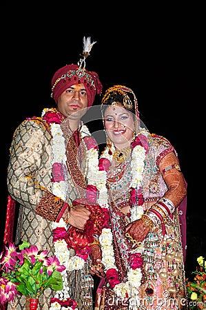 Indische bruid en bruidegom