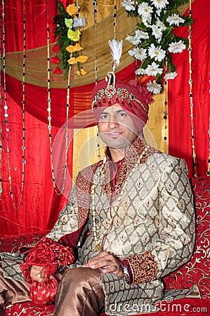 Indische bruidegom