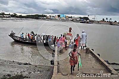 Indischer Wasser Transport Redaktionelles Stockbild