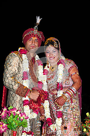 Indisk brud och brudgum
