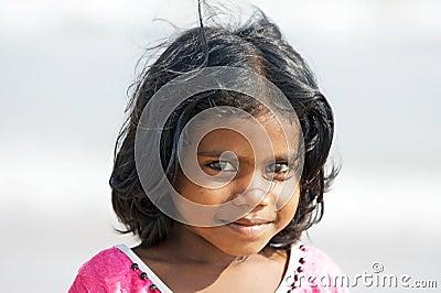 Indiska barn Redaktionell Arkivfoto