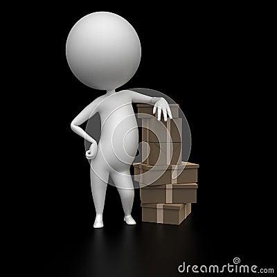 Indivíduo com pacotes