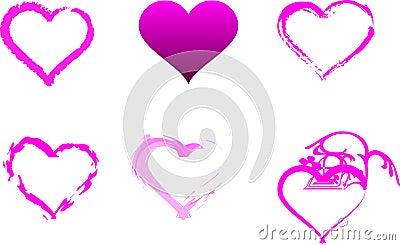 Individual Pink Hearts