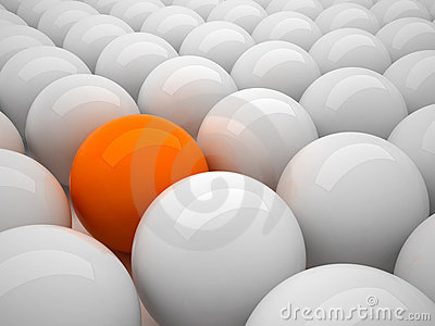 Individuality - orange ball