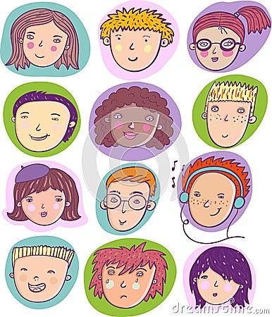 Individus de dessin animé