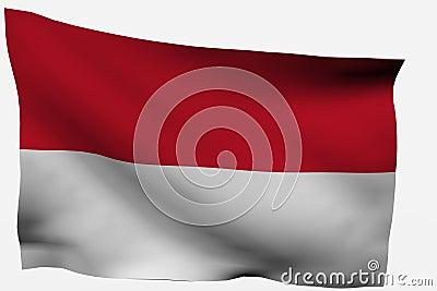 Indonesia  3D flag