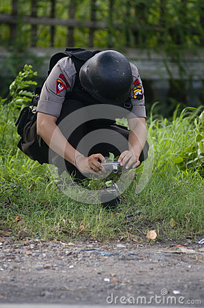INDONESIA BOMB SQUAD Editorial Photography