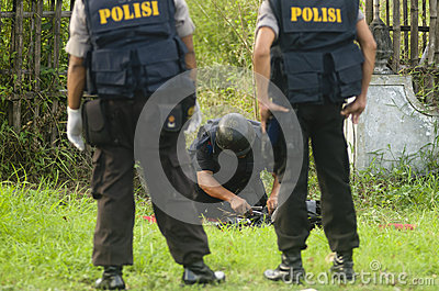 INDONESIA BOMB SQUAD Editorial Stock Photo