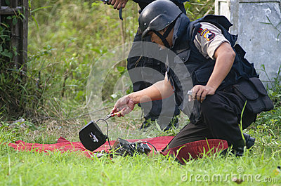 INDONESIA BOMB SQUAD Editorial Photo