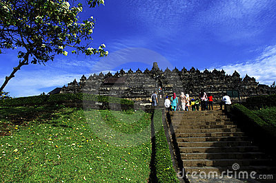 Indonesia, Central Java. The temple of Borobudur