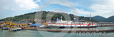 Indonesia harbour Editorial Stock Photo