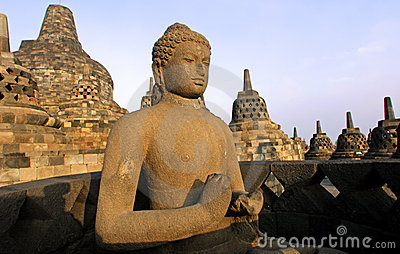Indonesia, Java, Borobudur: Temple