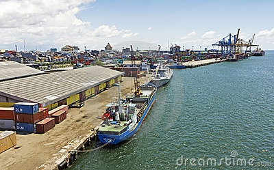 Indonesia makassar port Redaktionell Arkivfoto