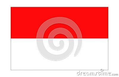 Indonesia/Monaco Flag