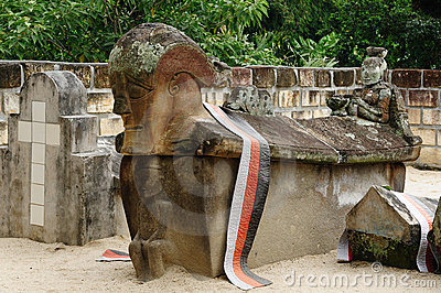 Indonesia, North Sumatra, Ancient tomb